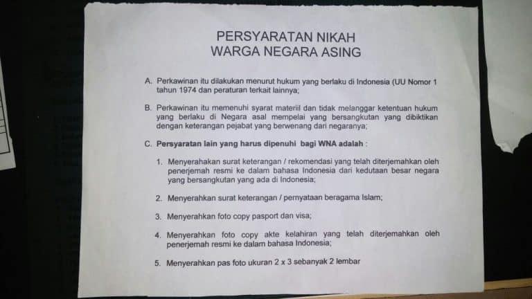 Terjemahan Dokumen Untuk Persyaratan Perkawinan Campuran